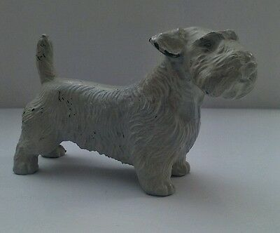 "2"" Westie, Sealy, Terrier Dog Statue Figurine Cast Iron Painted Metal - Antique"
