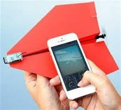 PowerUp 3.0 Smartphone Controlled Paper Airplane Bluetooth Android iPhone Drone
