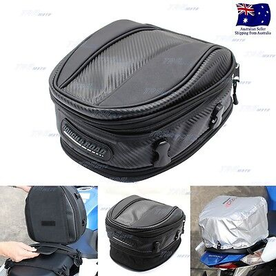 Back Seat Rear Storage Motorcycle Bag Motorbike Package Saddle Tail Bag RR9018