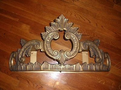 Vintage Ornate Gold Bed Crown Wall Canopy