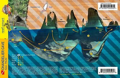 Palau Chandelier Cave Waterproof Dive Site Guide Card