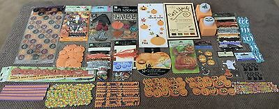 HUGE LOT! Halloween Scrapbooking Punches Embellishments Papers Kit Disney Pads