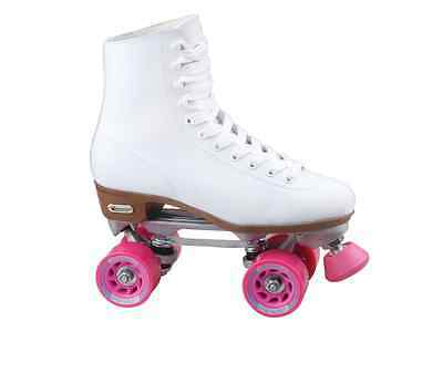 Street Roller Skates For Women Size 10 Derby White Pink Speed Indoor Outdoor New