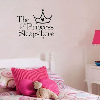 New Removable Princess Sleep Wall Sticker Art Vinyl Decals Baby Girls Room Decor