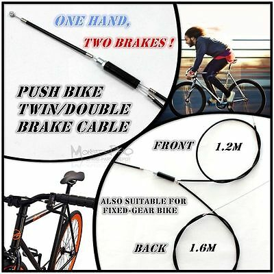 Twin Double Brake Cable line fixed gear push bike mountain road bike bicycle