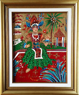 Yuri Gorbachev Original Painting ,,BALINESE PRINCESS ,,Oil on canvas,with C.O.A.