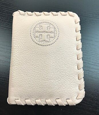 NWT TORY BURCH Card / ID Holder Wallet With Picture IN Pale Pink Leather