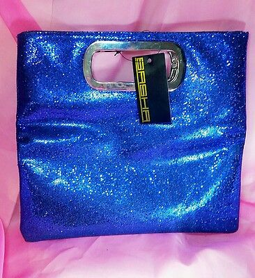 Blue evening handbag clutch  2 in 1. NEW. Size S