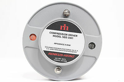"""Renkus Heinz SSD-3301 Compression Driver 2"""" Horn Throat 8ohm SSD3301 *TESTED*"""