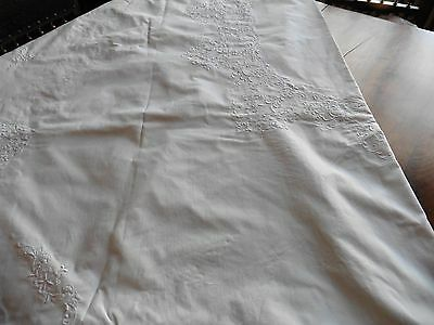 Nappe Pur Coton Ovale Brodee Main 166 X 250 Cm