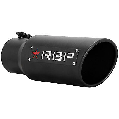 RBP RX-1 High Heat Textured Black Powder Coated Dual Badged Exhaust Tip