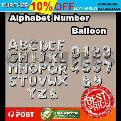 Foil Balloon Letter Number Alphabet Birthday Wedding Party Decoration Helium
