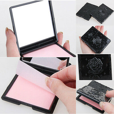 50pcs Portable Oil Control Absorbing Sheets Absorbent Beautiful Rose Pattern
