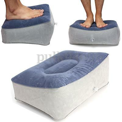 Inflatable Foot Rest Pillow For Travel Home Helps Reduce DVT Risk on Flights AU
