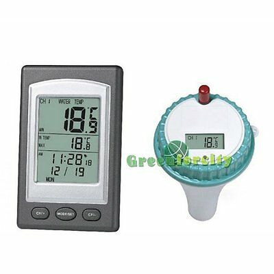 In Swimming Pool Spa Hot Tub Waterproof Floating Wireless LCD Thermometer【UK】