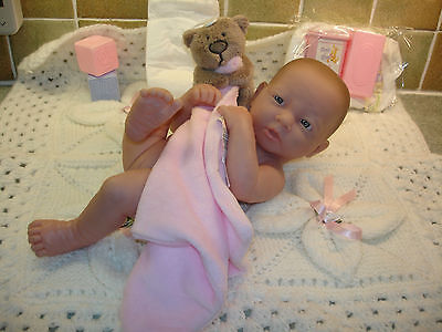 A Beautiful Berenguer La Newborn Baby Girl Doll with Accessories