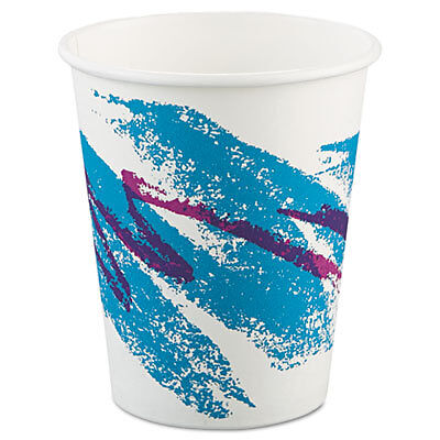 Jazz Paper Hot Cups, 10oz, Polycoated, 50/Bag, 20 Bags/Carton 370JZJ