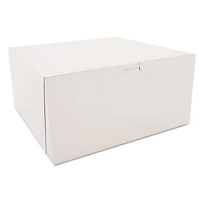 Tuck-Top Bakery Boxes, White, Paperboard, 12 x 12 x 6 0989