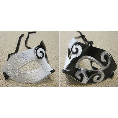 Black&White Roman Greek Mens Venetian Costume Party Mask 05S8