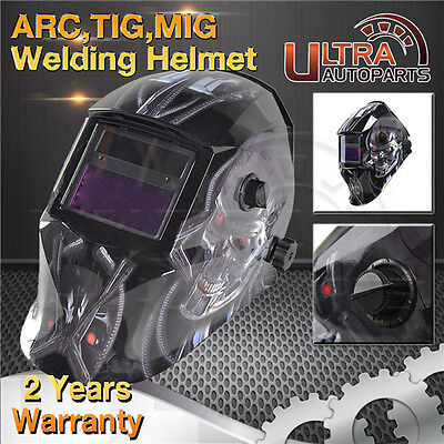 ARC TIG MIG Solar Powered Auto Darkening M-Skull Welding Helmet welders Mask UAP