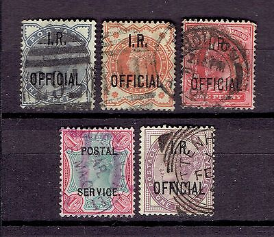 UK Great Britain Revenue Fiscal Tax stamps  I.R Official Gearge Victoria etc