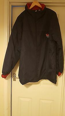 "England Rugby Union Jacket Xl ""54"" Navy Blue"