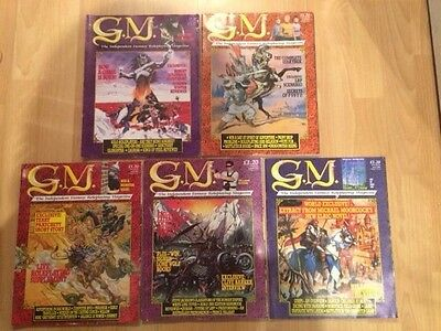 5 x G M THE INDEPENDENT FANTASY ROLEPLAYING MAGAZINE's VOL 1 ISSUE 8 9 10 11 12