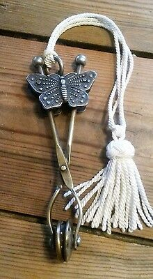 Great,Antique,French,Victorian,skirt lifter,butterfly sliding clip,late 1800's