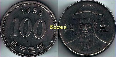 Korea 1992 100 won coin