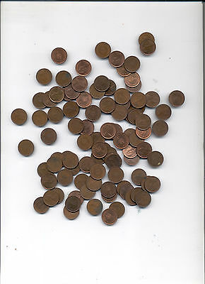 Half Penny 1/2P   100 unsorted coins