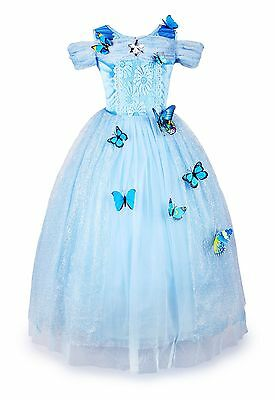 Cinderella Dress Princess Dress Girls Party Dress Christmas Cosplay Costume
