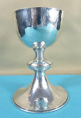 Superb Large Arts & Crafts Sterling Silver Chalice Cup Omar Ramsden London 1924