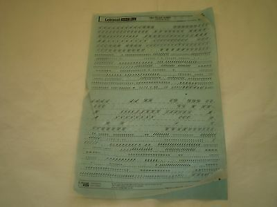 USED LETRASET Sheet Rub On Letter Transfers 24pt PALACE SCRIPT  #292