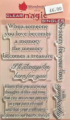 Woodware Clear Magic Treasured Thoughts stamp set - JGS453
