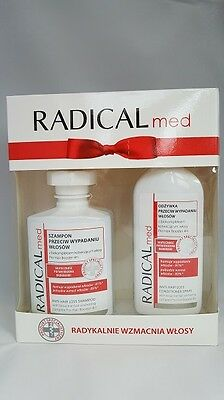 PL/Radical Med Gift Set Shampoo,Conditioner in Spray Fallong Out Hair ,horsetail