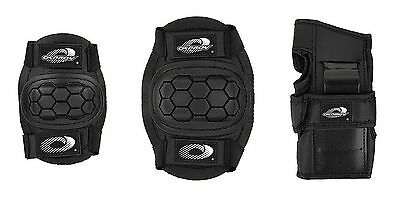 Boys Girls Childs Osprey Skate Cycle Knee Elbow Wrist Protection Pads Set - B...