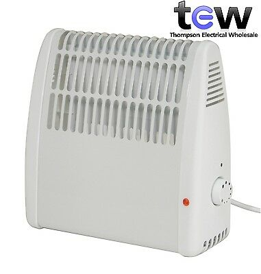 400W Frost Watcher Compact Convector Heater Wall Mounted for Greenhouse Caravan