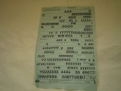 USED LETRASET (Letragraphica) Sheet Rub on Transfers 48pt SHATTER  LG1514