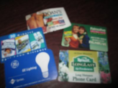 Collectible Expired Unused Phone Cards /calling Cards:ge, Renuzit, Doan's, Dixie