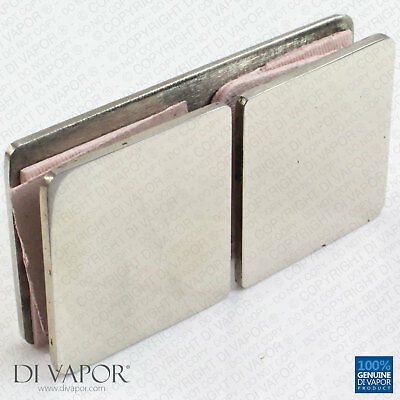 Di Vapor Stainless Steel Glass to Glass Clamps Bracket for Shower Panel or 12mm
