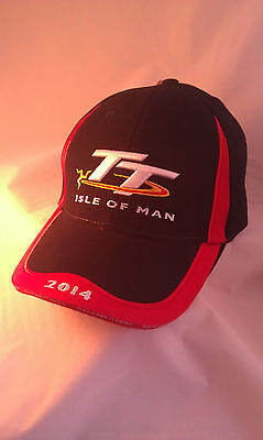 Genuine Official Product Collectable 2014 Isle of Man TT Black Baseball Cap Hat