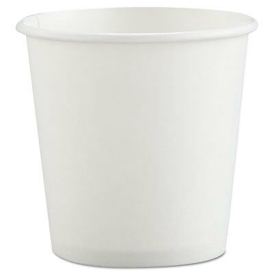 Polycoated Hot Paper Cups, 4 oz, White 374W-2050