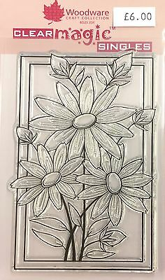 Woodware Clear Magic Boxed Daisies Trio stamp JGS377