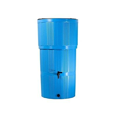 Water Butt/ 150 Litre Rattan Blue