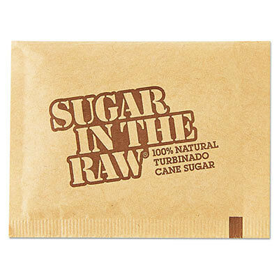 Sugar Packets, Raw Sugar, 0.18 oz Packets, 500 per Carton 827749