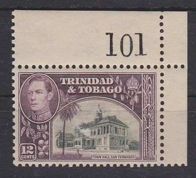T & T GVI WITH SHEET NUMBER 101 SG 252 & 252a  MNH