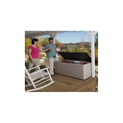 Lifetime Products Patio Deck Box 500Lt Large Size With Gas Ram Strut
