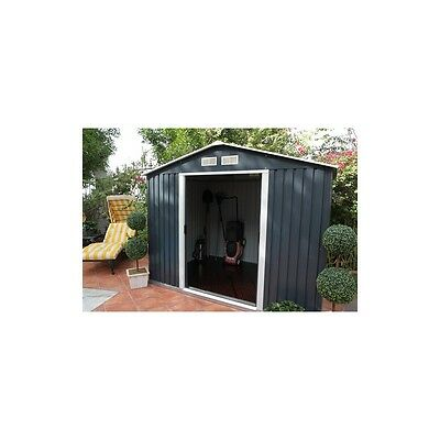 Colossus Springdale 10X8 Metal Apex Shed Anthracite Grey