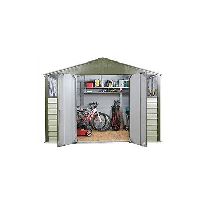 Trimetals 10X8 Metal Shed T108 With 2 Optional Windows