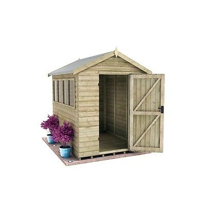 Elite 6X8 16mm Heavy Pressure-Treated Apex Shed/ Collected in Newbridge
